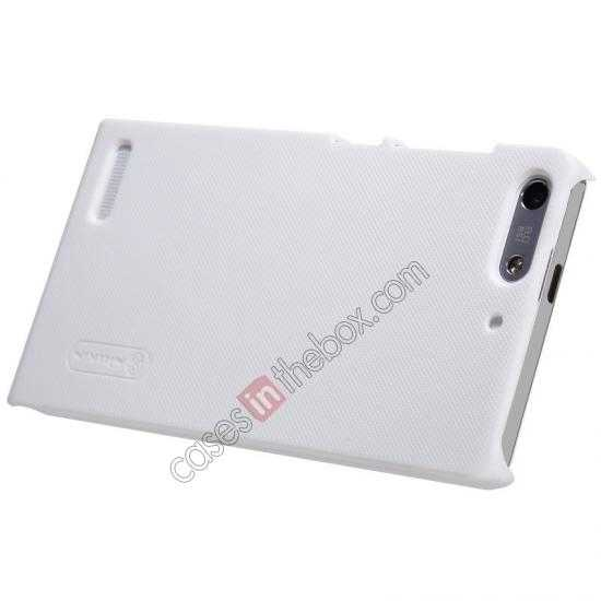 top quality Nillkin Super Frosted Shield Hard Case w/ Screen Film for HUAWEI Ascend G6 - White