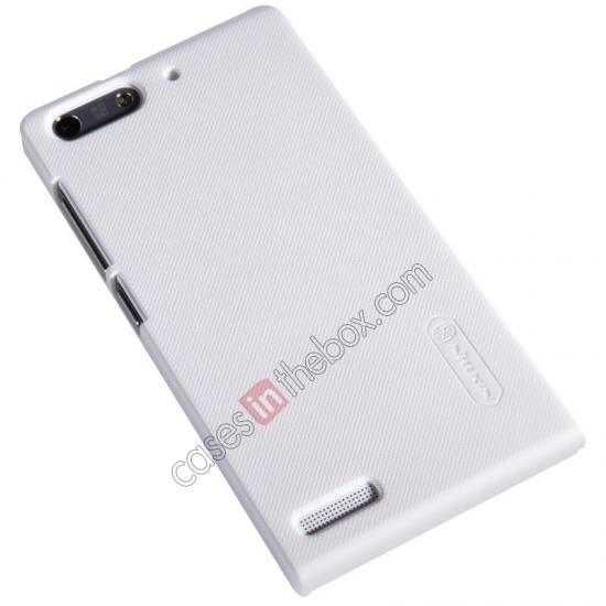 best price Nillkin Super Frosted Shield Hard Case w/ Screen Film for HUAWEI Ascend G6 - White