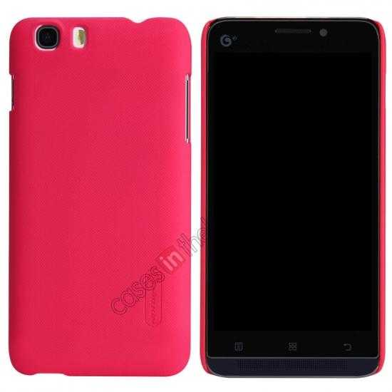 wholesale Nillkin Super Frosted Shield Hard Case w/ Screen Film for Lenovo A828T - Red