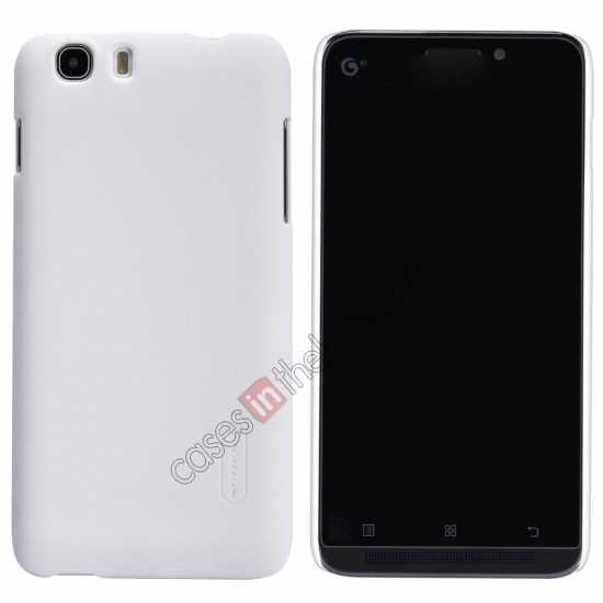 wholesale Nillkin Super Frosted Shield Hard Case w/ Screen Film for Lenovo A828T - White