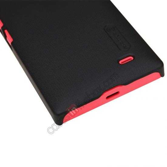 top quality Nillkin Super Frosted Shield Hard Case w/ Screen Film for Nokia X - Black