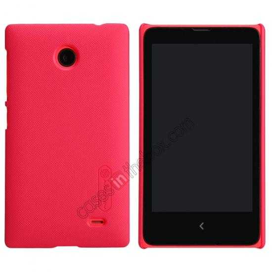 wholesale Nillkin Super Frosted Shield Hard Case w/ Screen Film for Nokia X - Red