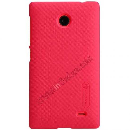 discount Nillkin Super Frosted Shield Hard Case w/ Screen Film for Nokia X - Red