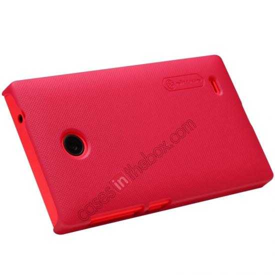 top quality Nillkin Super Frosted Shield Hard Case w/ Screen Film for Nokia X - Red