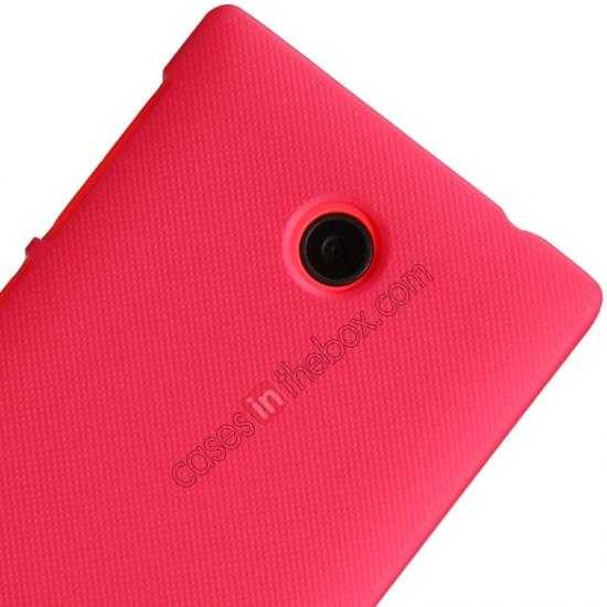 on sale Nillkin Super Frosted Shield Hard Case w/ Screen Film for Nokia X - Red