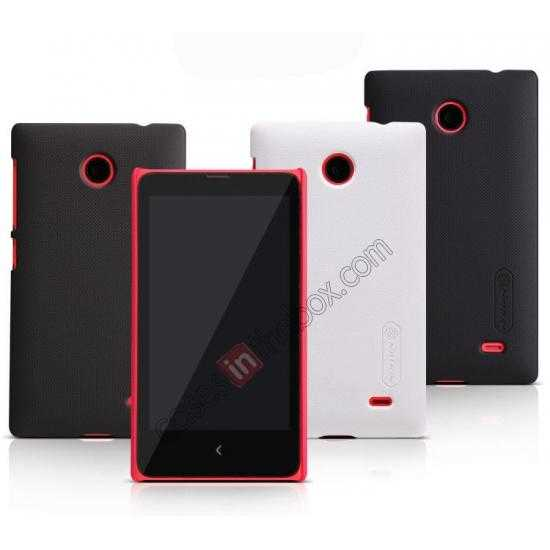 low price Nillkin Super Frosted Shield Hard Case w/ Screen Film for Nokia X - Red