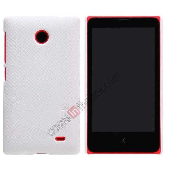wholesale Nillkin Super Frosted Shield Hard Case w/ Screen Film for Nokia X - White