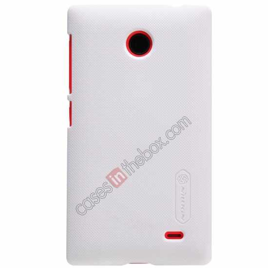 discount Nillkin Super Frosted Shield Hard Case w/ Screen Film for Nokia X - White