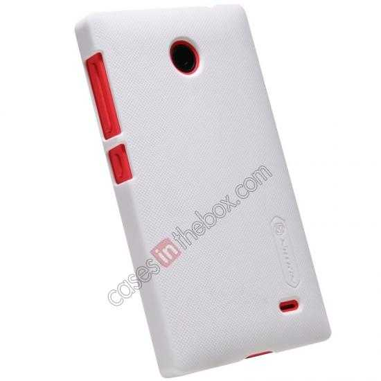 best price Nillkin Super Frosted Shield Hard Case w/ Screen Film for Nokia X - White