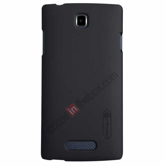 wholesale Nillkin Super Frosted Shield Hard Case w/ Screen Film for OPPO R831T - Black