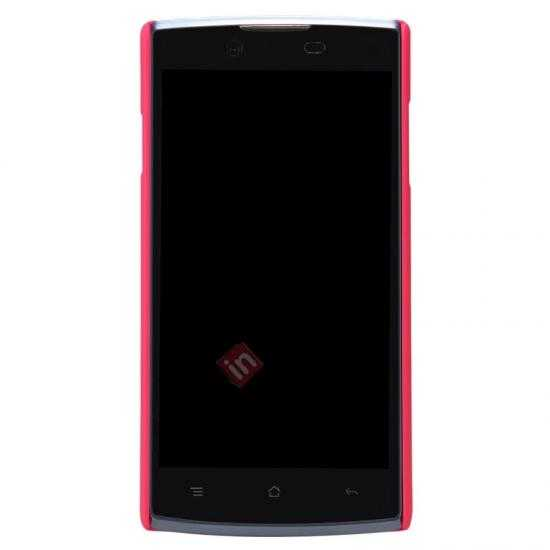 discount Nillkin Super Frosted Shield Hard Case w/ Screen Film for OPPO R831T - Red