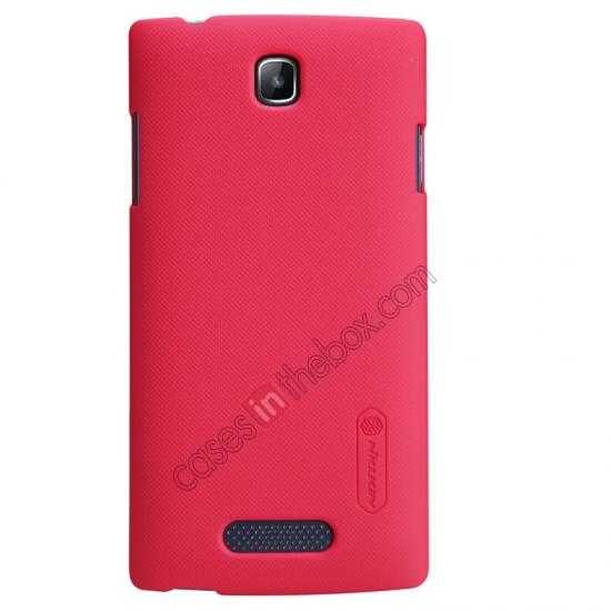 wholesale Nillkin Super Frosted Shield Hard Case w/ Screen Film for OPPO R831T - Red