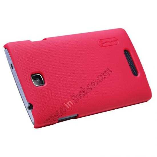 cheap Nillkin Super Frosted Shield Hard Case w/ Screen Film for OPPO R831T - Red