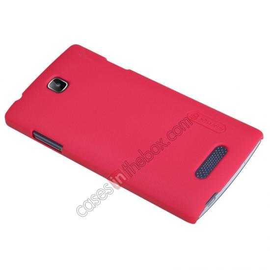 best price Nillkin Super Frosted Shield Hard Case w/ Screen Film for OPPO R831T - Red
