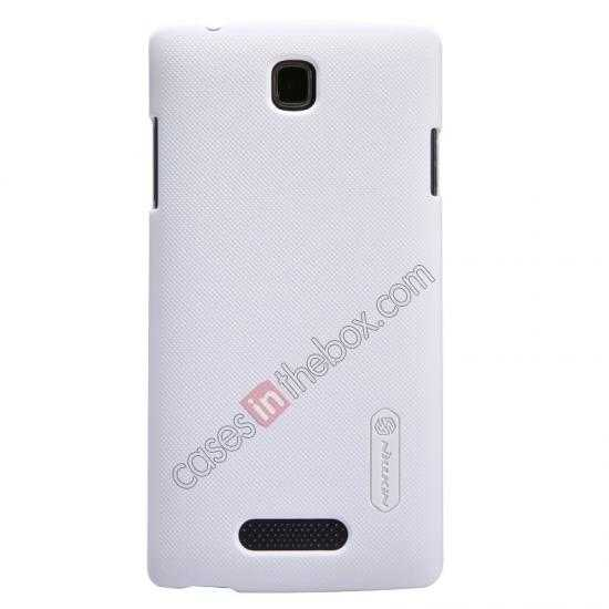 wholesale Nillkin Super Frosted Shield Hard Case w/ Screen Film for OPPO R831T - White