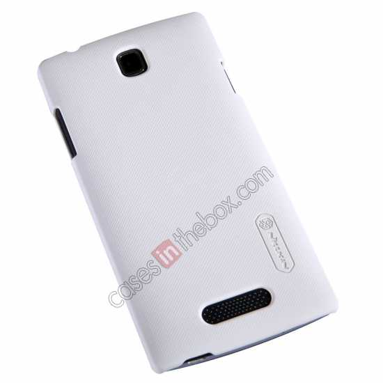 top quality Nillkin Super Frosted Shield Hard Case w/ Screen Film for OPPO R831T - White