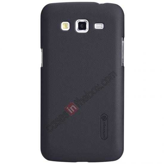 wholesale Nillkin Super Frosted Shield Hard Case w/ Screen Film for Samsung Galaxy Grand 2/G7106 - Black