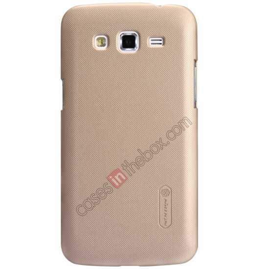 wholesale Nillkin Super Frosted Shield Hard Case w/ Screen Film for Samsung Galaxy Grand 2/G7106 - Golden