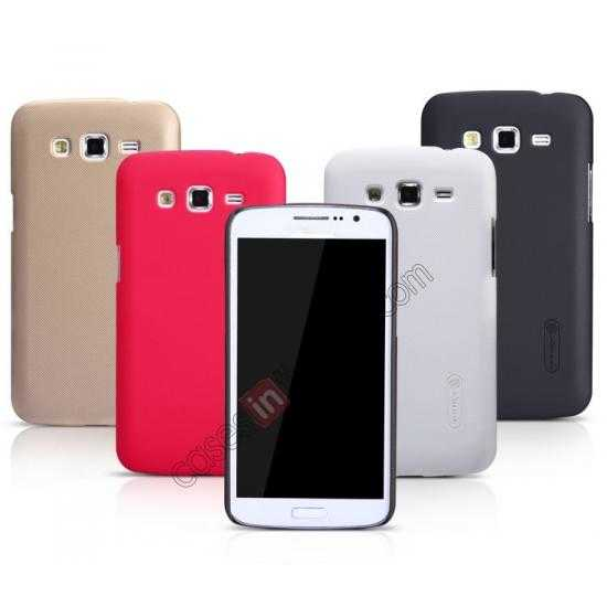 on sale Nillkin Super Frosted Shield Hard Case w/ Screen Film for Samsung Galaxy Grand 2/G7106 - Golden