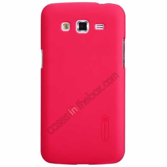 wholesale Nillkin Super Frosted Shield Hard Case w/ Screen Film for Samsung Galaxy Grand 2/G7106 - Red