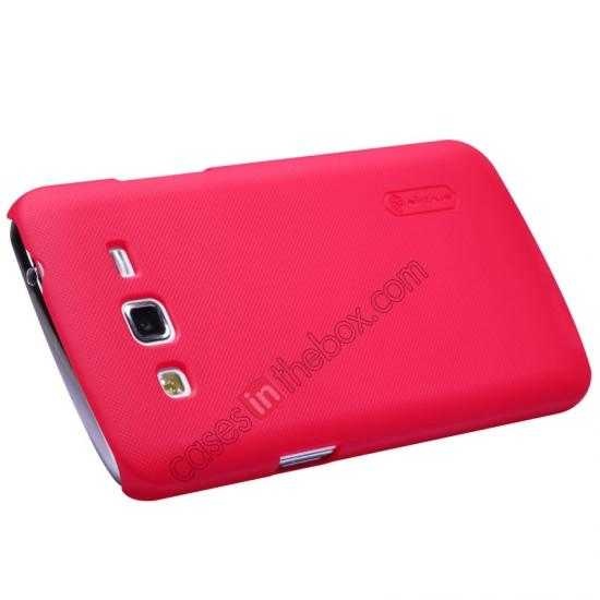cheap Nillkin Super Frosted Shield Hard Case w/ Screen Film for Samsung Galaxy Grand 2/G7106 - Red