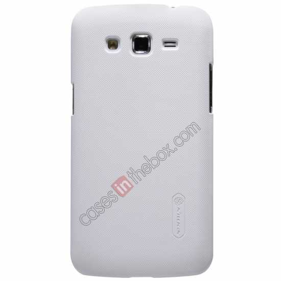 wholesale Nillkin Super Frosted Shield Hard Case w/ Screen Film for Samsung Galaxy Grand 2/G7106 - White