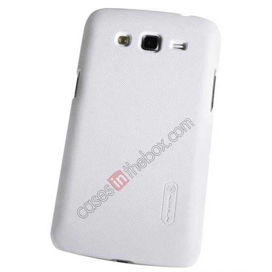 top quality Nillkin Super Frosted Shield Hard Case w/ Screen Film for Samsung Galaxy Grand 2/G7106 - White