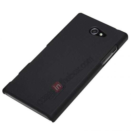 discount Nillkin Super Frosted Shield Hard Case w/ Screen Film for Sony Xperia M2 S50H - Black