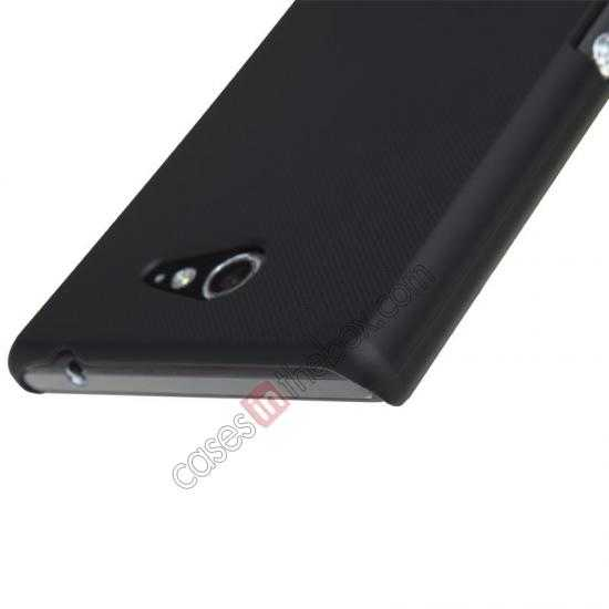 cheap Nillkin Super Frosted Shield Hard Case w/ Screen Film for Sony Xperia M2 S50H - Black