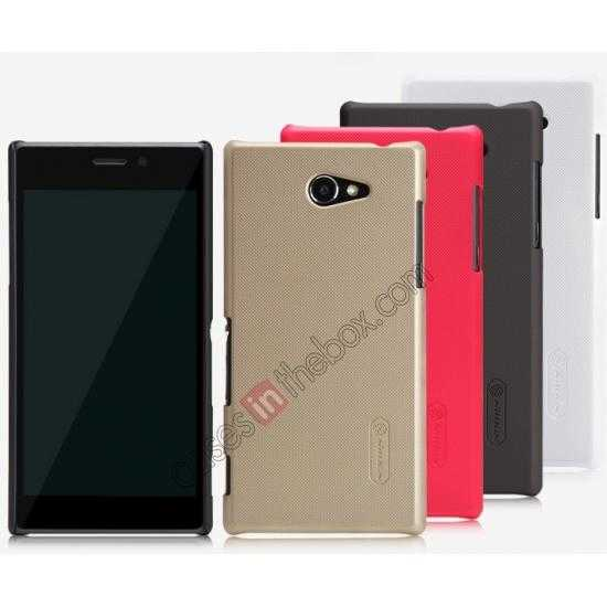 on sale Nillkin Super Frosted Shield Hard Case w/ Screen Film for Sony Xperia M2 S50H - Brown
