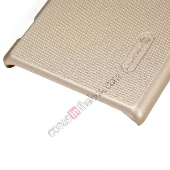 discount Nillkin Super Frosted Shield Hard Case w/ Screen Film for Sony Xperia M2 S50H - Golden