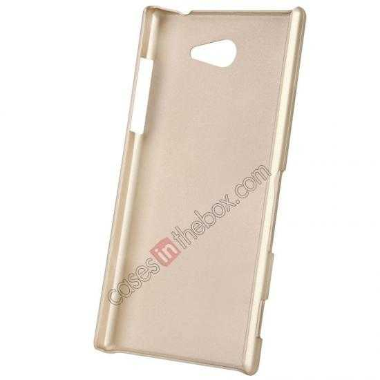 cheap Nillkin Super Frosted Shield Hard Case w/ Screen Film for Sony Xperia M2 S50H - Golden