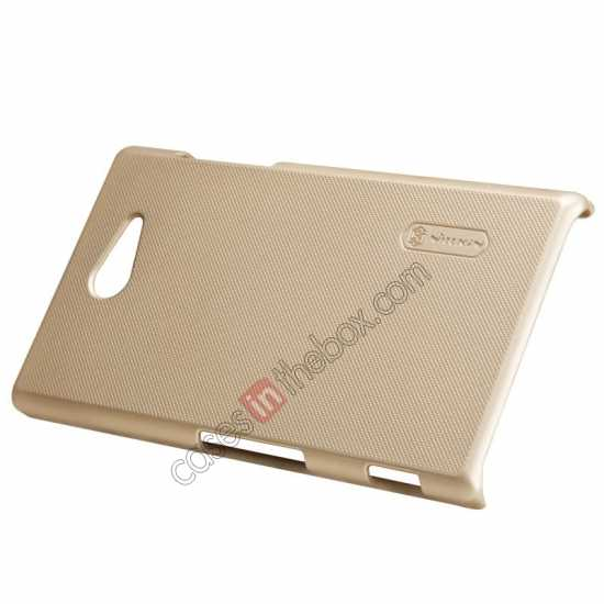 top quality Nillkin Super Frosted Shield Hard Case w/ Screen Film for Sony Xperia M2 S50H - Golden