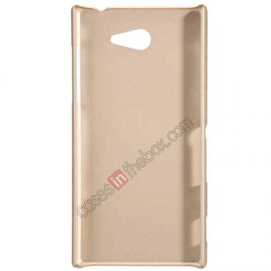 best price Nillkin Super Frosted Shield Hard Case w/ Screen Film for Sony Xperia M2 S50H - Golden