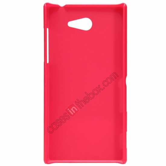 cheap Nillkin Super Frosted Shield Hard Case w/ Screen Film for Sony Xperia M2 S50H - Red