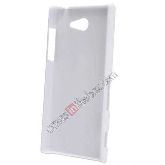 discount Nillkin Super Frosted Shield Hard Case w/ Screen Film for Sony Xperia M2 S50H - White