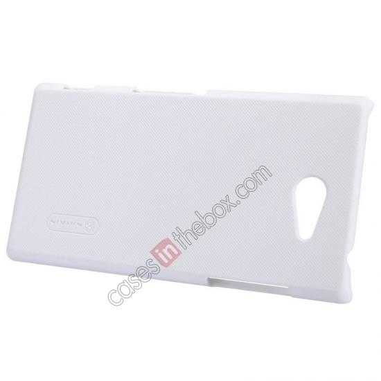 cheap Nillkin Super Frosted Shield Hard Case w/ Screen Film for Sony Xperia M2 S50H - White