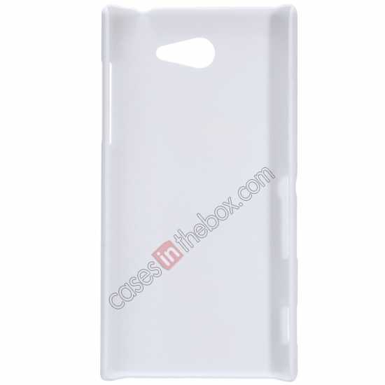 best price Nillkin Super Frosted Shield Hard Case w/ Screen Film for Sony Xperia M2 S50H - White