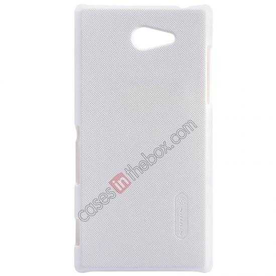 wholesale Nillkin Super Frosted Shield Hard Case w/ Screen Film for Sony Xperia M2 S50H - White