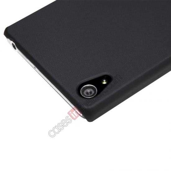best price Nillkin Super Frosted Shield Hard Case w/ Screen Film for Sony Xperia Z2 L50t - Black