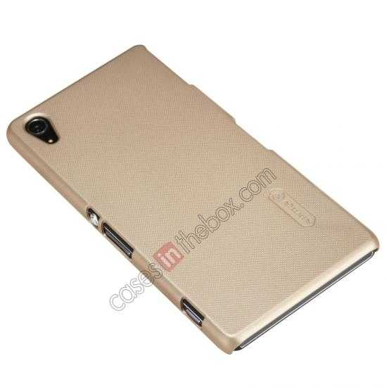 discount Nillkin Super Frosted Shield Hard Case w/ Screen Film for Sony Xperia Z2 L50t - Golden