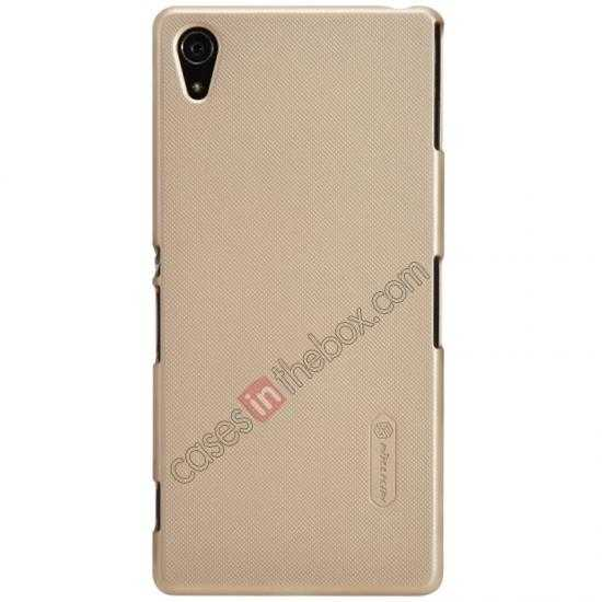 wholesale Nillkin Super Frosted Shield Hard Case w/ Screen Film for Sony Xperia Z2 L50t - Golden