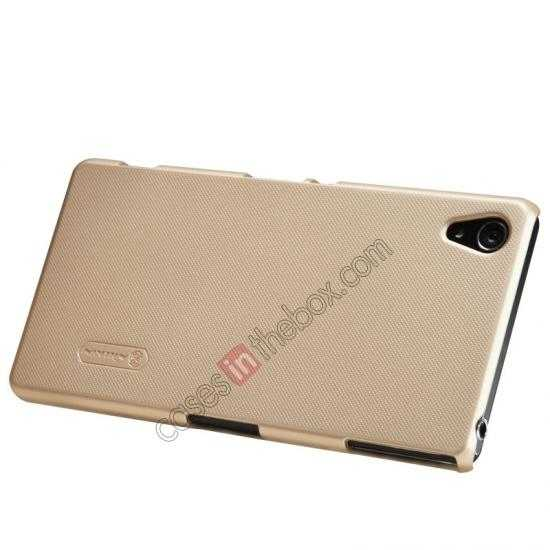 top quality Nillkin Super Frosted Shield Hard Case w/ Screen Film for Sony Xperia Z2 L50t - Golden