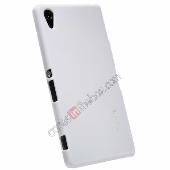 discount Nillkin Super Frosted Shield Hard Case w/ Screen Film for Sony Xperia Z2 L50t - White