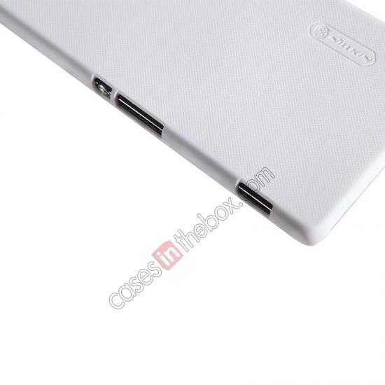 top quality Nillkin Super Frosted Shield Hard Case w/ Screen Film for Sony Xperia Z2 L50t - White
