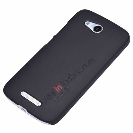 discount Nillkin Super Frosted Shield Hard PC Case for Huawei B199 w/ Screen Protector - Black