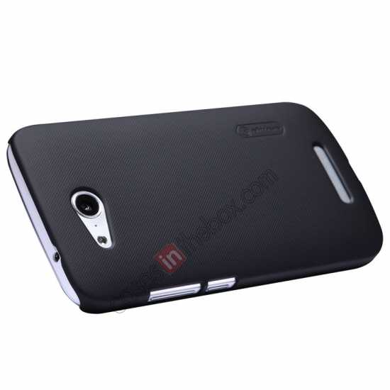 top quality Nillkin Super Frosted Shield Hard PC Case for Huawei B199 w/ Screen Protector - Black