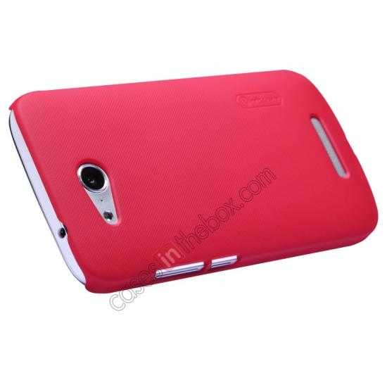 top quality Nillkin Super Frosted Shield Hard PC Case for Huawei B199 w/ Screen Protector - Red