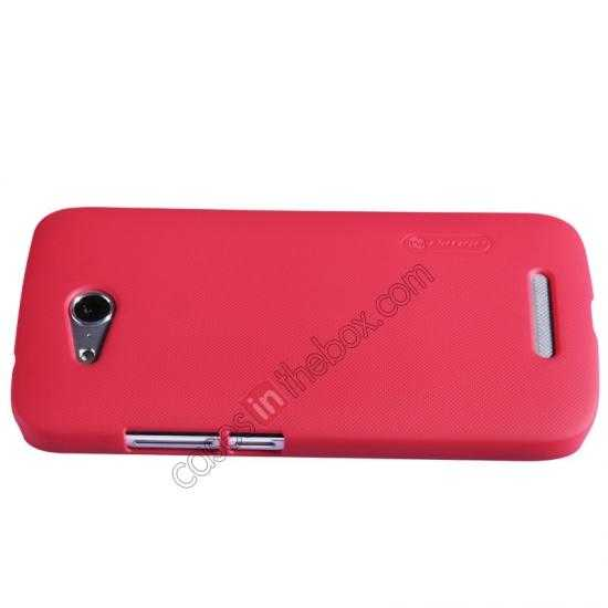 best price Nillkin Super Frosted Shield Hard PC Case for Huawei B199 w/ Screen Protector - Red