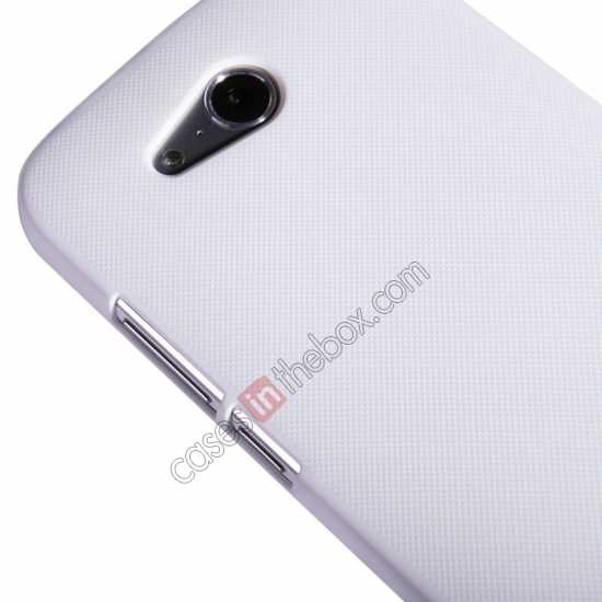 discount Nillkin Super Frosted Shield Hard PC Case for Huawei B199 w/ Screen Protector - White